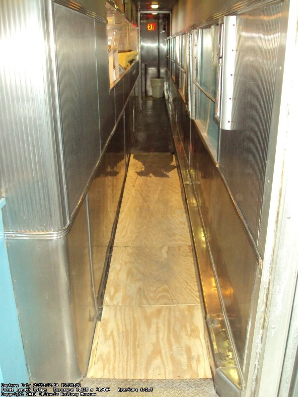 Looking toward the rear of the corridor which passes by the galley 7/14/13