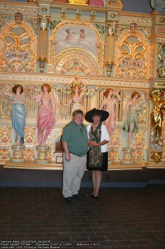 Nancy and Jasper in front of the superb Gavioli organ