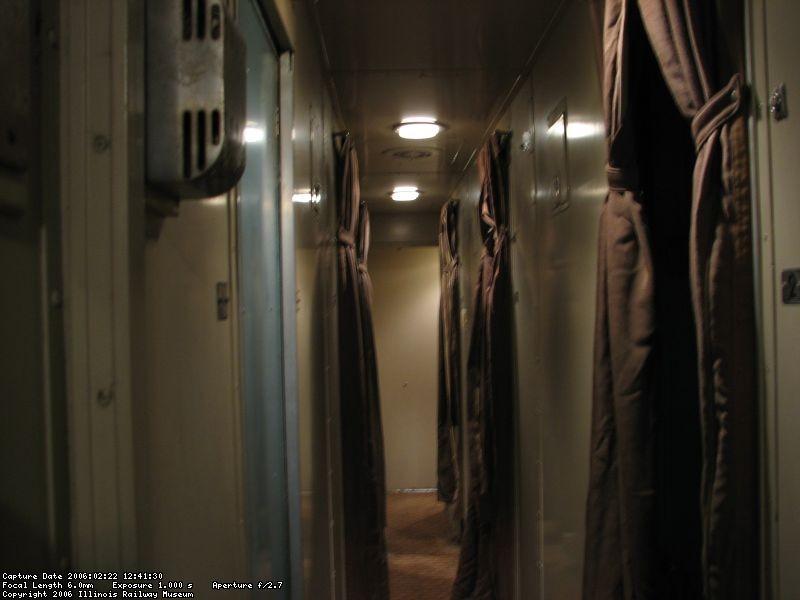 CBQ 481 roomette corridor