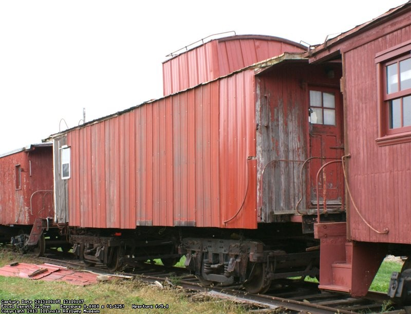 10494's South side covered with surplus steel siding from barn 9