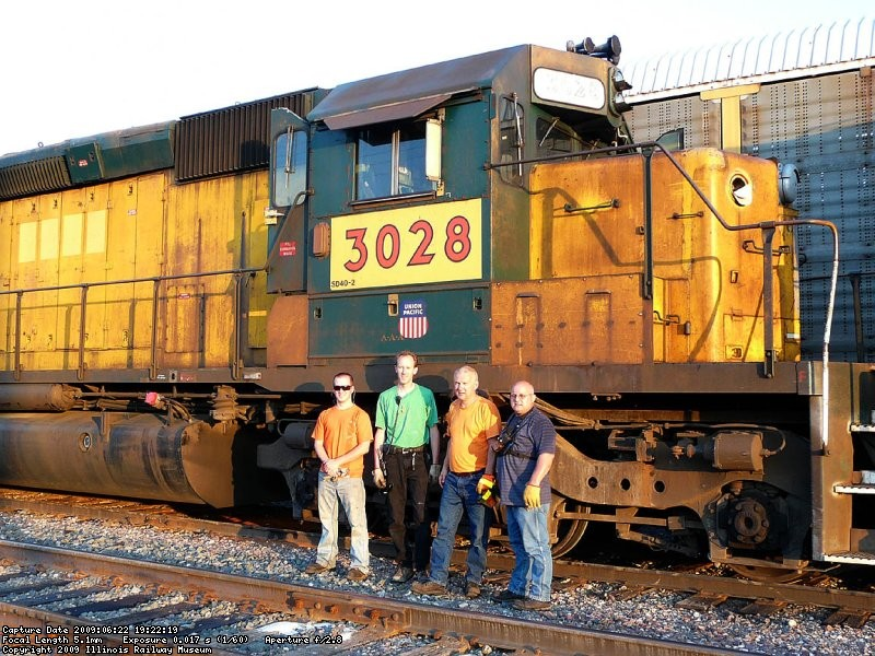 The crew again with the 3028..