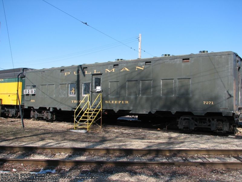 Pullman Army troop Sleeper exterior 1