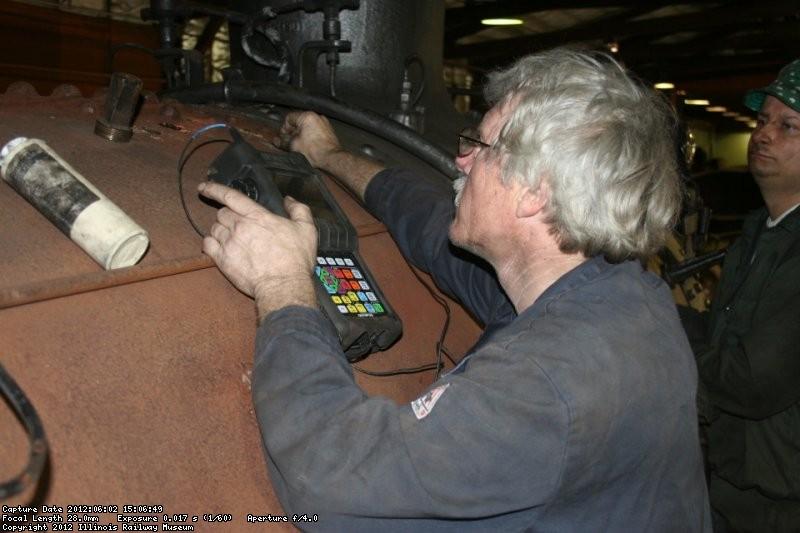 Easier work on the outside of the boiler shell