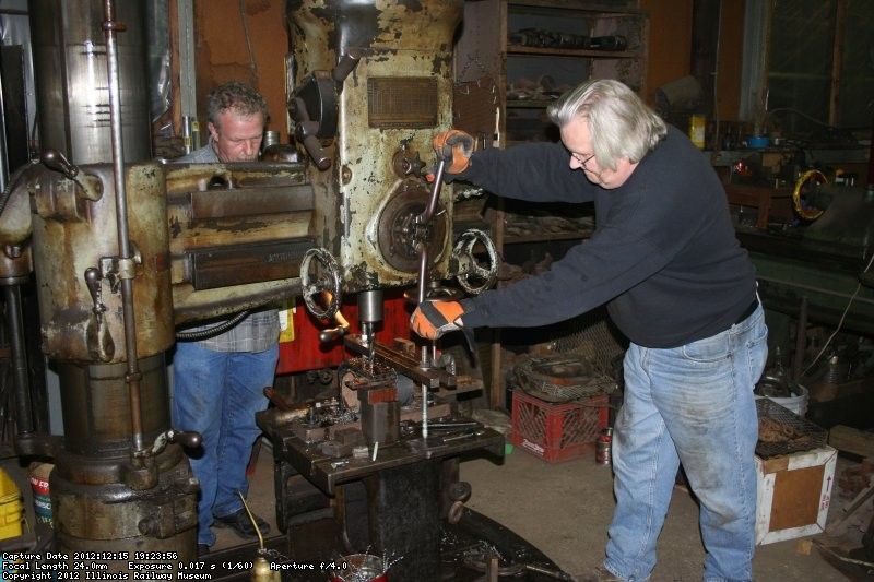 Mike and Jerry drill the patch