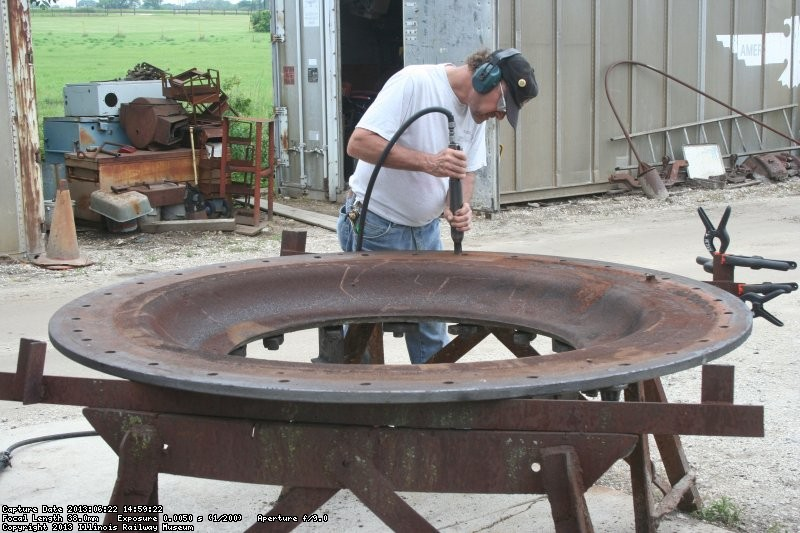 Paul works on the smokebox front
