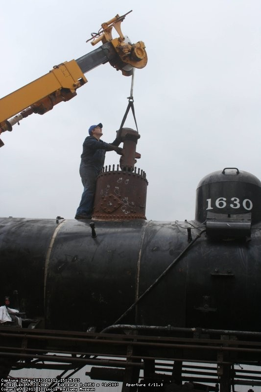Throttle being lowered into place