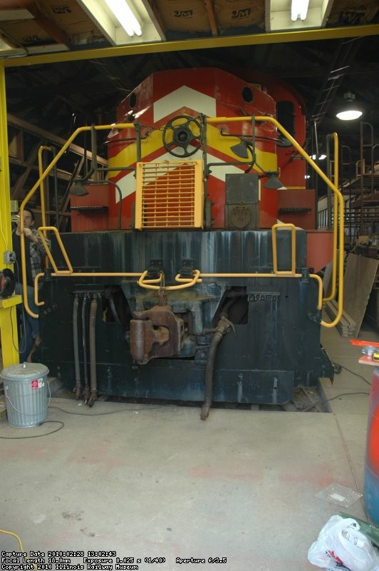 GBW 2407 in the Diesel Shop for mechanical overhaul work. - DSC_8222.JPG