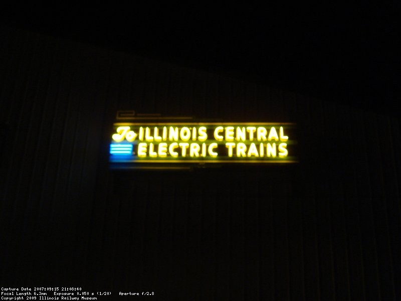 Illinois Central Electric Trains Sign on front of barn 6