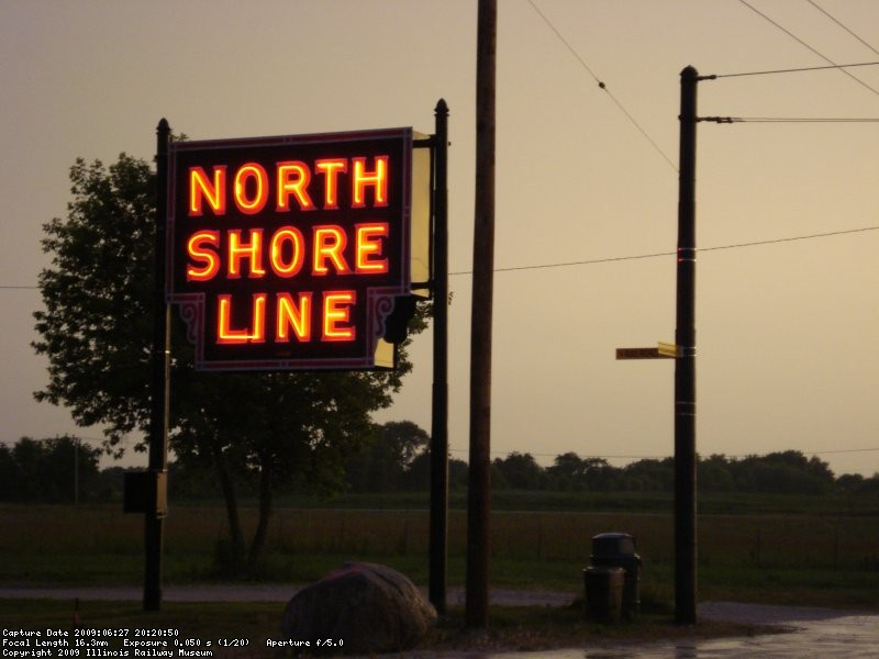 North Shore Line Sign @ Railroad Ave & Central Ave