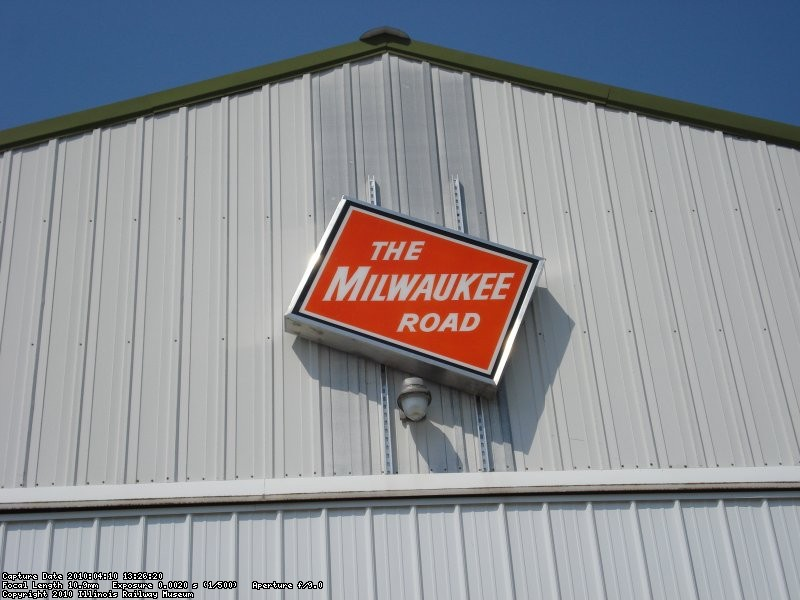Milwaukee Road Sign on the South Side of Barn 9