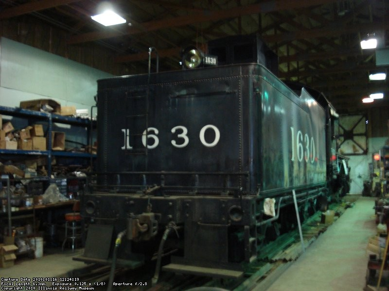 1630 in the shop; at the time of the photo they had her full of water checking for any leaks from welding