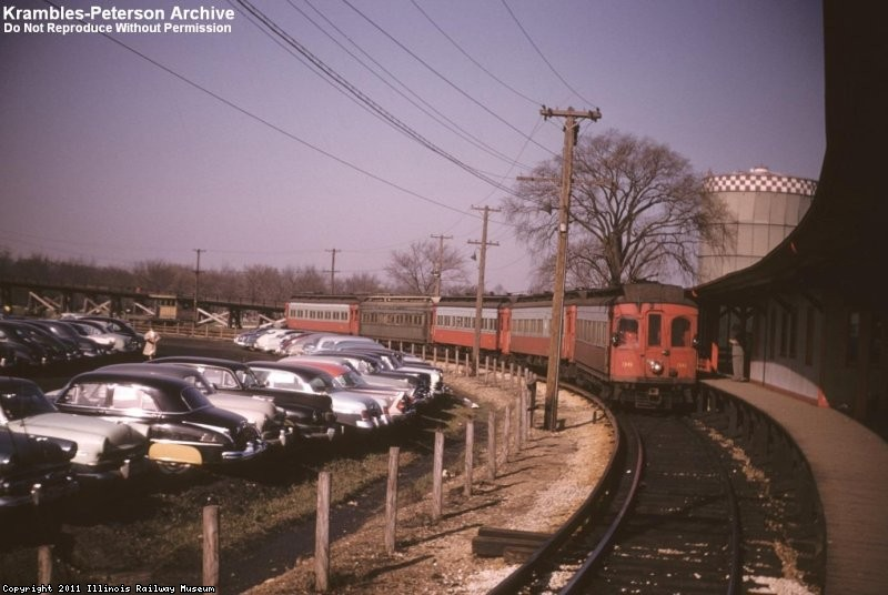 CA&E 36 at Forest Park, 1954 - F.J. Misek photo