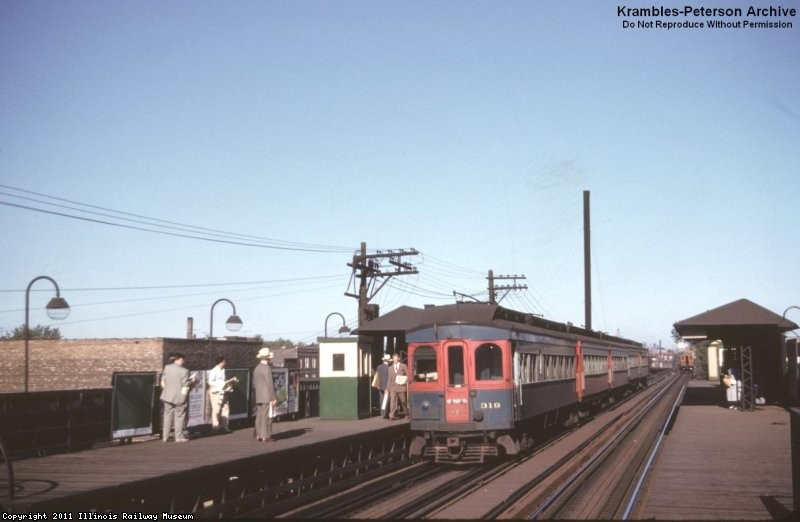 CA&E 319 at Kedzie, 1953 - William C. Janssen photo