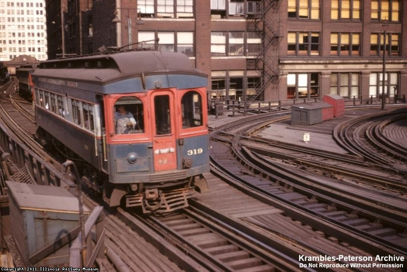 CA&E 319 at Market East Tower, 1953 - George Krambles photo