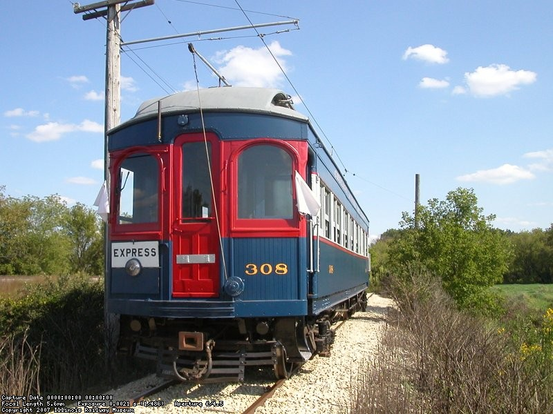 CA&E 308 at the end of track