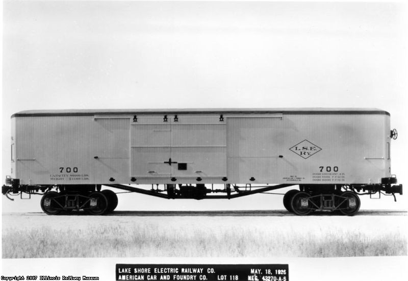 Lake Shore Electric 700 - side view