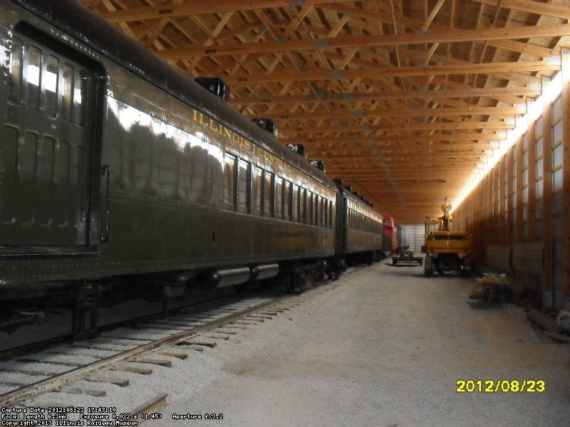 MRM   IC combine inside new storage barn
