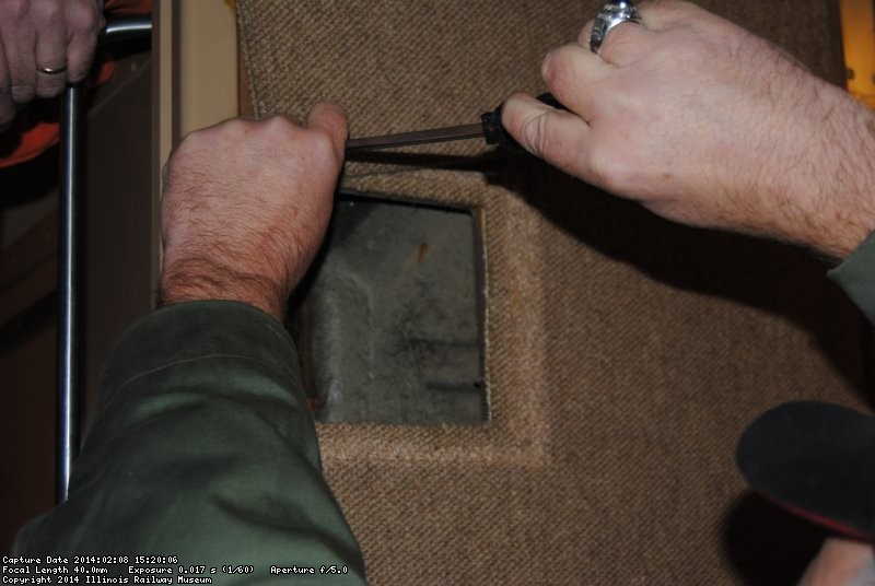 Mike and Ray working on sliding door access panel