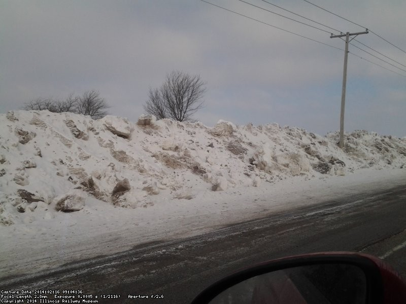 Snow pile at museum entrance 2/16/14 from Mark Gellman
