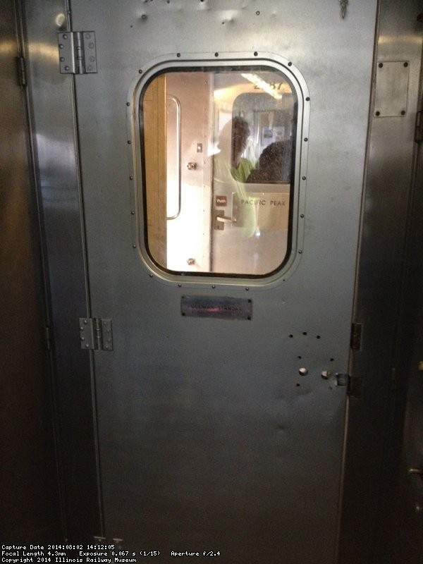 Pullman Standard door with window in place - Photo by Michael McCraren
