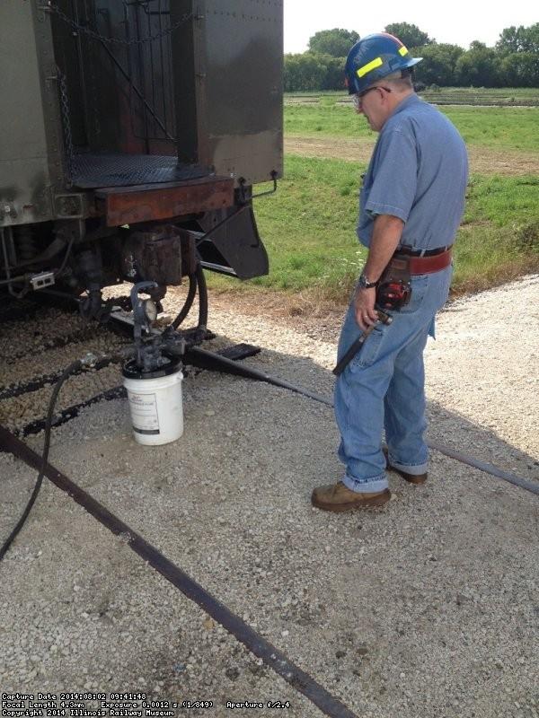 Ray Mormann shown testing air brakes - Photo by Michael McCraren