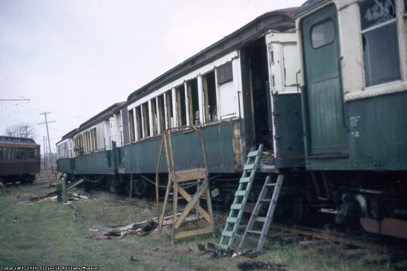 CTA 1700's being scrapped c1973 - photo courtesy Bill Wulfert