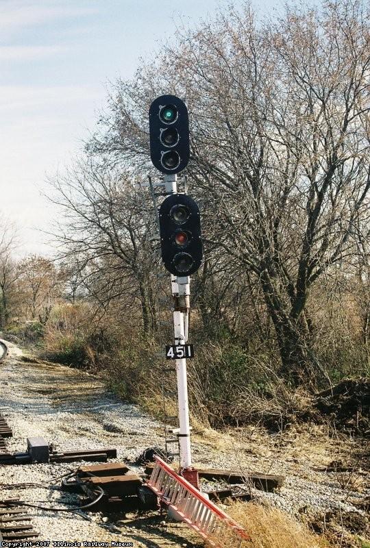 Signal 451 at Four Mile Siding. GRS Colorlights, EJ&E Ry