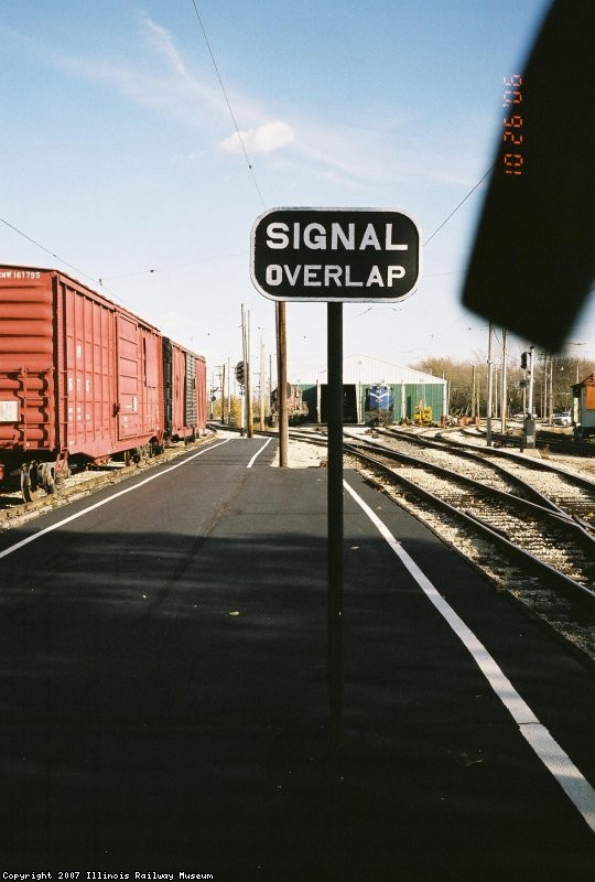 Signal Overlap Sign in Depot Area. CGW RR