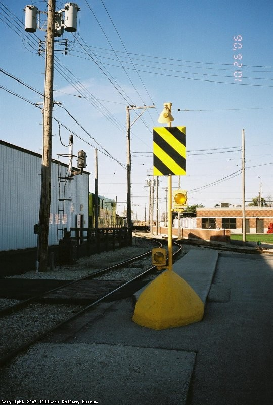 Safety Island, North End Barn 9, Depot Street, Chicago Surface Lines