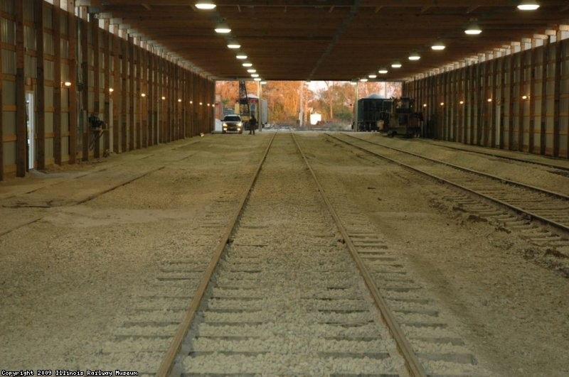 Completed tracks in Barn 11