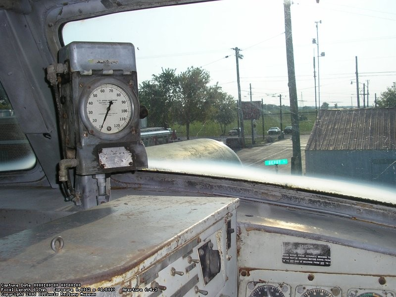 Speedometer and view out of the front, Andy Mueller Photo