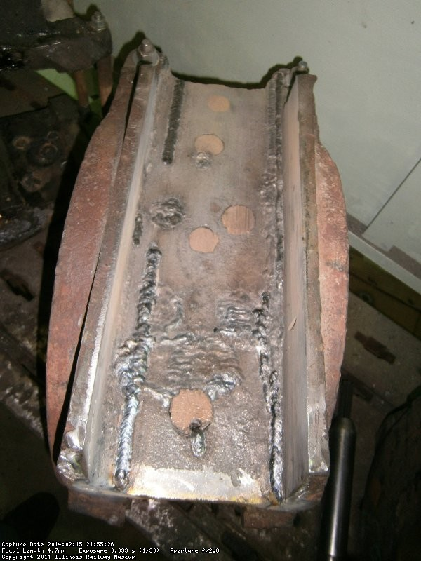 Weld used to build up axle box
