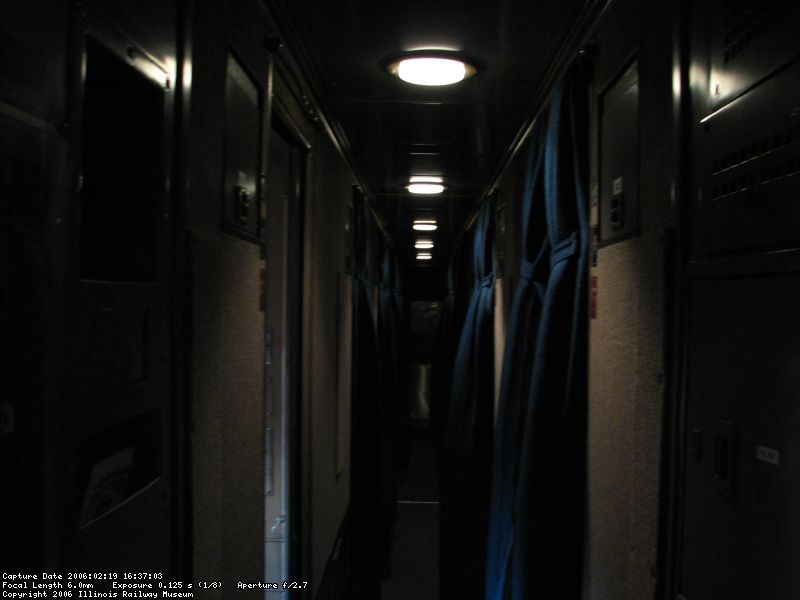 roomette corridor under lights