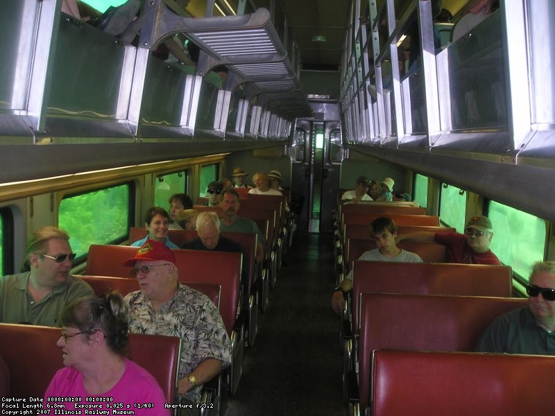 The stranded passengers enjoying their ride back again.