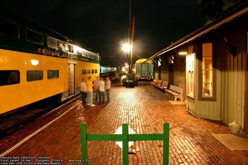 The platform at night