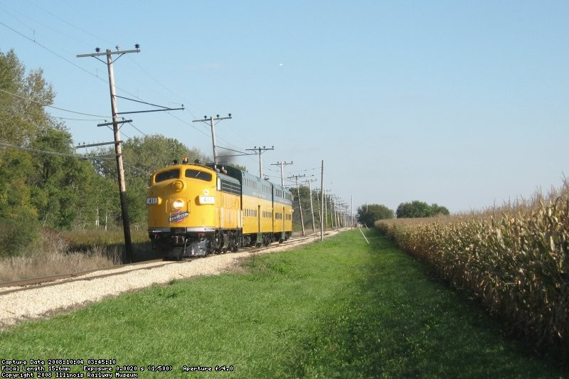 Rare mileage scoot heads toward Belvidere on a Charter trip from NW Station in Chicago