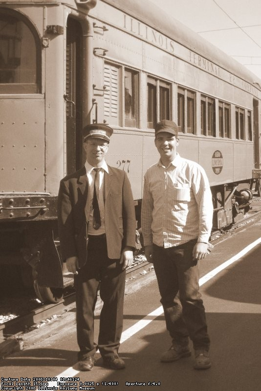 IT Motorman & Conductor prior to our departure from Peoria