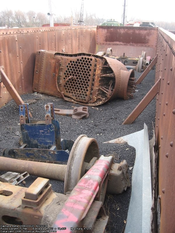The project...unload freight car parts in a hopper of coal...