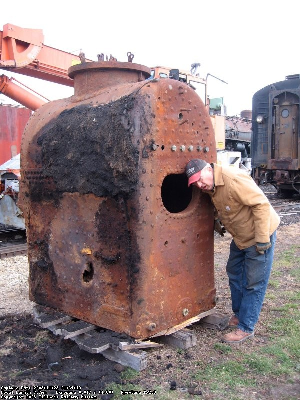 Nick speaks to his new firebox...
