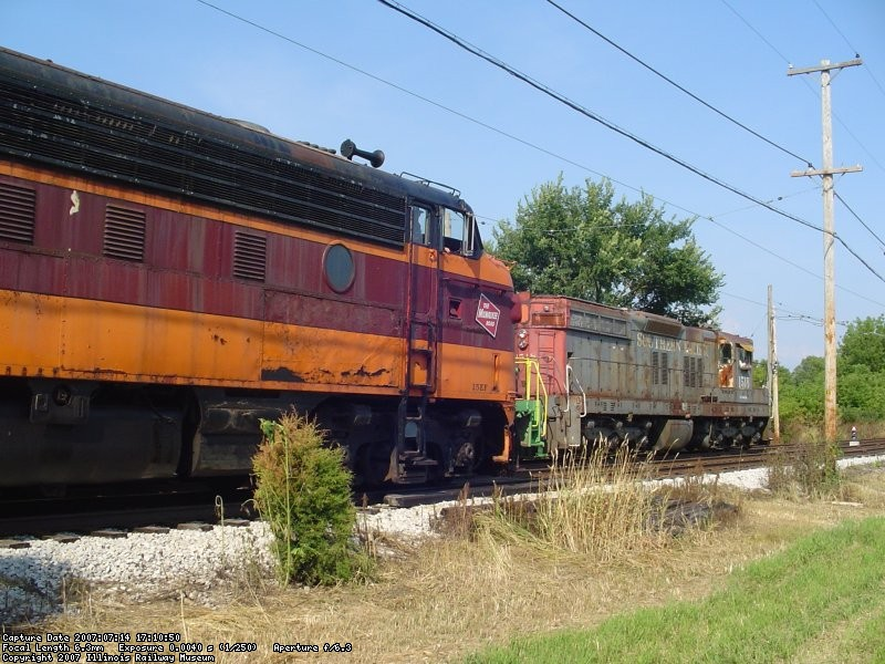 SP 1518 and Milw 118-C  07-14-07