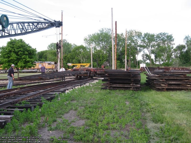Stacking track panels at Yard 11