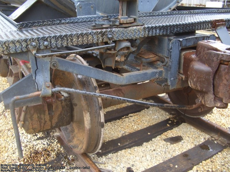 07.09.09 - THE UNCOUPLING RODS WERE STRAIGHTENED, APPLIED AND BOLTED INTO PLACE.