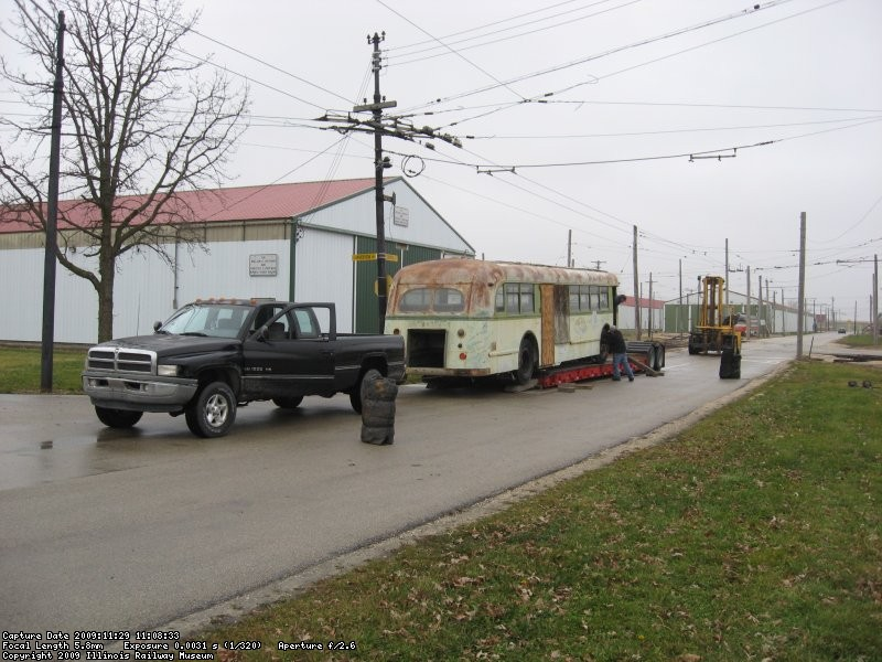 Between the Dodge locomotive and the forklift, the coach was unloaded without incident - 11/29/2009