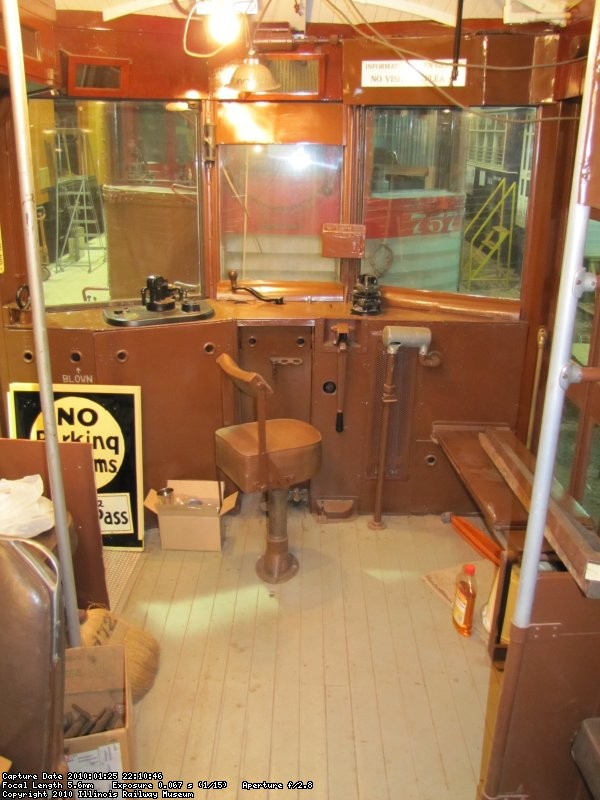 Interior motorman's area