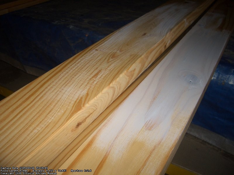 08.16.09 - THE EDGES OF ALL OF THE TOP TRIM BOARDS WERE ROUNDED OVER WITH A ROUTER SO THAT THEY WOULD HOLD PAINT BETTER.