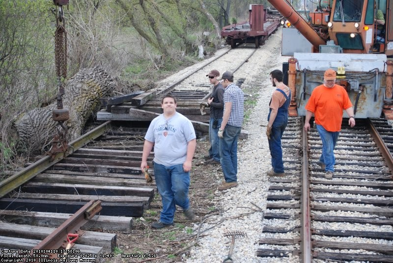The work gang at 4 mile siding.