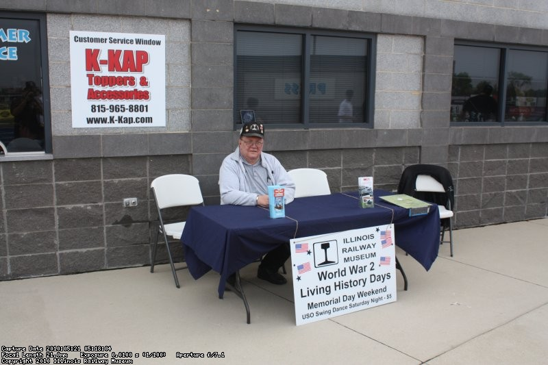 Ed Rosengren at the IRM info table.