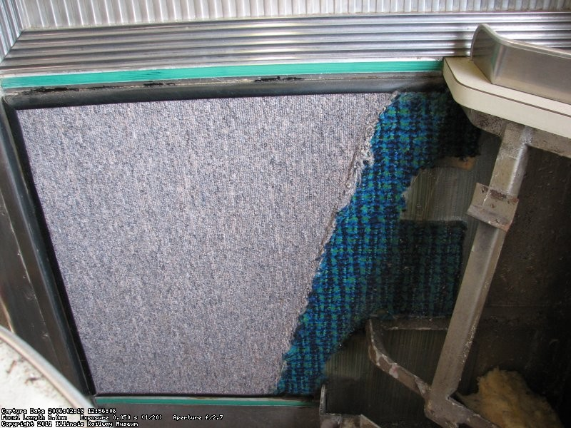 two wall carpet styles hidden behind seats