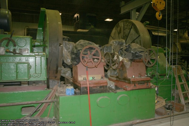 Overall view of the wheel lathe