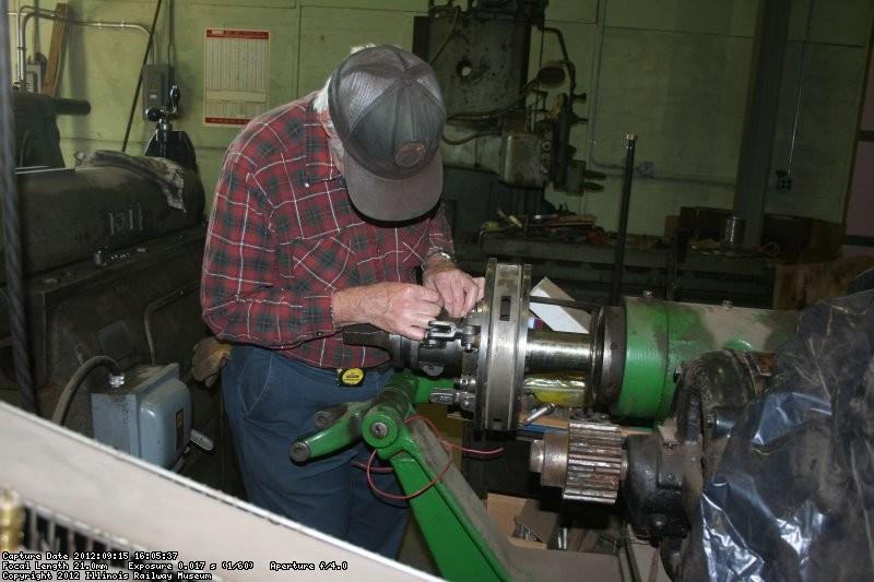 Bob fits the clutch mechanism